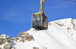 Nebelhorn cable car in winter. The Alps, Germany. Royalty Free Stock Photos