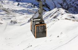 Nebelhorn cable car in winter. The Alps, Germany. Stock Photos