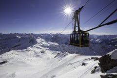 Nebelhorn gondola Obraz Stock