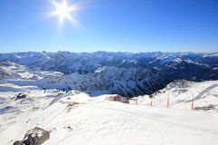 The Nebelhorn Mountain in winter. Alps, Germany. Stock Photos