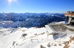 The Nebelhorn Mountain in winter. Alps, Germany. Stock Photography