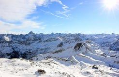 The Nebelhorn Mountain in winter. Alps, Germany. Stock Image