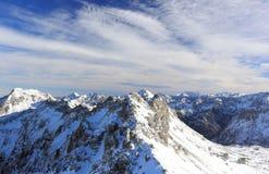 The Nebelhorn Mountain in winter. Alps, Germany. Royalty Free Stock Photos