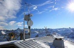 The Nebelhorn Mountain in winter. Alps, Germany. Stock Photo