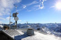 The Nebelhorn Mountain in winter. Alps, Germany. Royalty Free Stock Photography