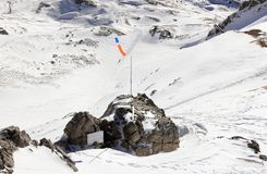 The Nebelhorn Mountain in winter. Alps, Germany. Royalty Free Stock Photo