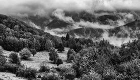 Nebelige Berge Lizenzfreie Stockbilder