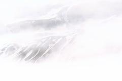 Nebelige Berge bei Arskogssandur Nord-Island Stockbild