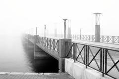 Nebelige Brücke Lizenzfreies Stockfoto