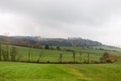 Nebelige Herbstlandschaft Lizenzfreie Stockbilder