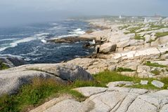 Nebelige Küste Lizenzfreies Stockbild