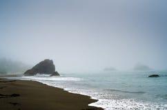 Nebelige Küste Stockbild