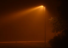 Nebelige Leuchte Stockfoto
