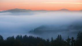 Nebelige mountian Landschaft nave 1920x1080 Nebelwolken stock video