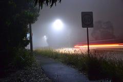 Nebelige Nacht Stockbild