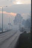 Nebelige Straße Stockfotografie