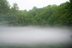 Nebeliger Fluss Lizenzfreie Stockbilder