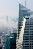 Nebeliger Morgen in NYC Stockfoto