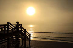 Nebeliger Morgen-Ozean 10 Stockfotografie