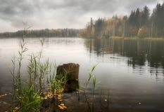 Nebeliger See von Russland Stockbild
