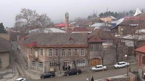 Nebeliger Tag in Sheki azerbaijan stock video