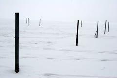 Nebeliger Winter Stockfotografie