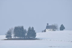 Nebeliger Wintertag Lizenzfreie Stockfotos