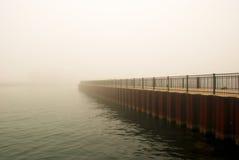 Nebeliges Chicago Stockbild
