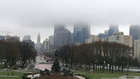 Nebeliges Philadelphia lizenzfreie stockfotografie