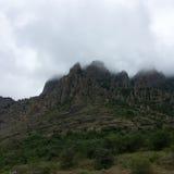 Nebeln Sie auf dem Berg ein Lizenzfreie Stockbilder