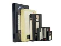 Nebeneinander Videobänder stockbild