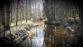Nebenfluss in den Niederlanden lizenzfreie stockfotografie