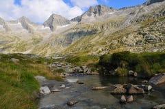 Nebenfluss im Glazial- Tal Lizenzfreies Stockbild