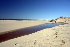 Nebenfluss neben Ozean Stockbild