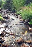 Nebenfluss unter Steinwasser im Sommer Lizenzfreies Stockbild