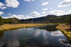 Nebenfluss in Yellowstone Stockfotos