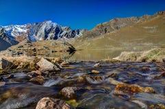 Nebenfluss zu Lago Nero, Stelvio Nationalpark Lizenzfreies Stockbild