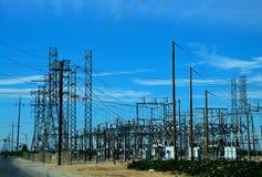Nebenstelle, elektrisch, Energie, hoch, Spannung lizenzfreie stockbilder