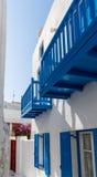 Nebenstraße in Mykonos Lizenzfreie Stockfotos