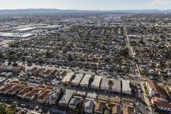 Neblina del valle y antena de Los Ángeles de la postura desgarbada Imágenes de archivo libres de regalías