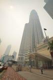 Neblina sobre Kuala Lumpur, Malasia Imágenes de archivo libres de regalías
