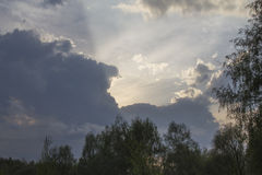 Nebo_002. The play of light in the sky Royalty Free Stock Image