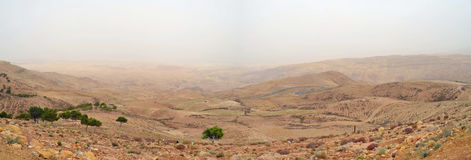 Nebo Valley. Overlooking the Jordan valley towards israel from Jordan stock images