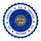 Nebraska flag badge. Royalty Free Stock Photo