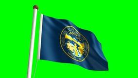 Nebraska flag. (seamless & green screen stock footage