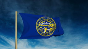 Nebraska flag slider style. Waving in the win with stock video footage