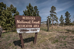 Nebraska Nationaal Forest Recreation Area Soldier Creek Royalty-vrije Stock Foto