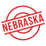 Nebraska rubber stamp. Grunge design with dust scratches. Effects can be easily removed for a clean, crisp look. Color is easily changed Stock Images