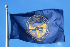 Nebraska stan Flaga Zdjęcie Stock