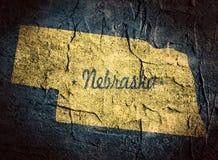 Nebraska stanu mapa Fotografia Royalty Free